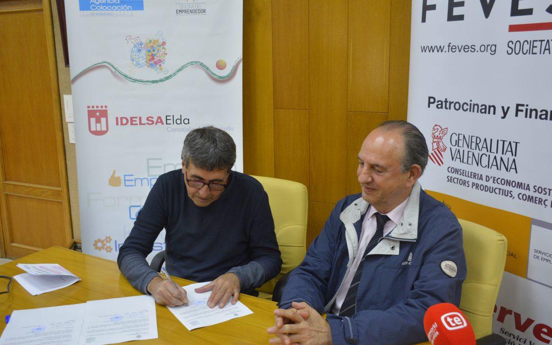 IDELSA y FEVES firman un convenio para apoyar el crecimiento del tejido empresarial eldense