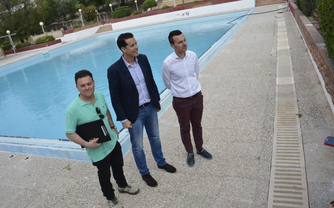 Obras en las piscinas municipales