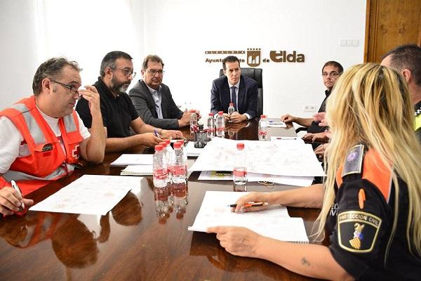 El subdelegado del Gobierno en Alicante se reúne con las fuerzas de seguridad para el dispositivo especial de Fiestas