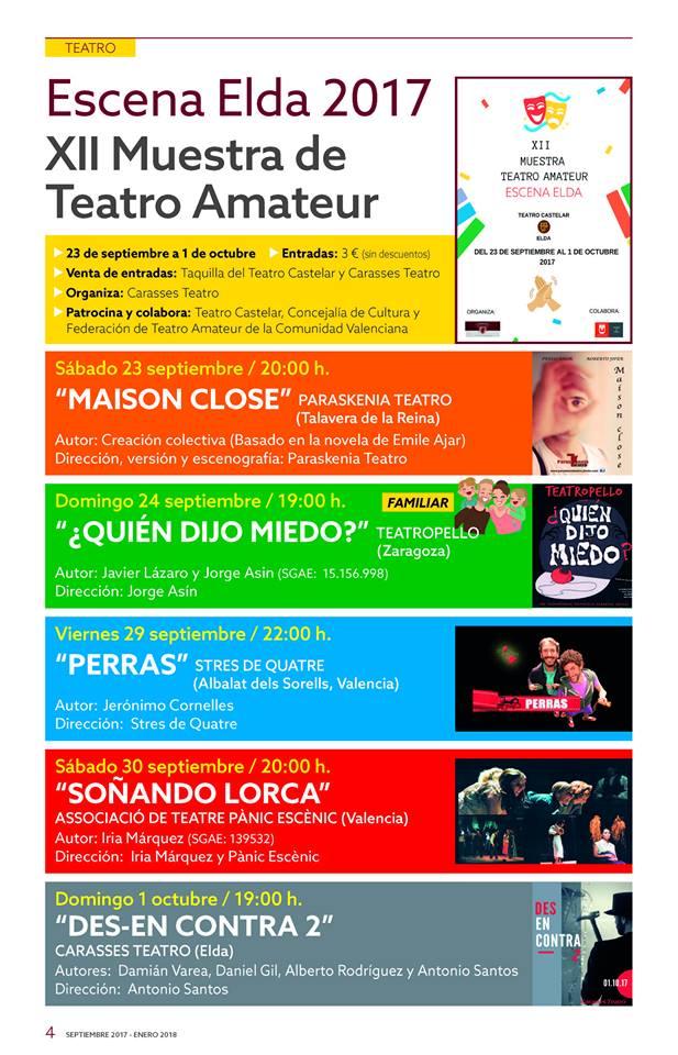 Carasses Teatro presenta la XII Muestra de Teatro Amateur | Excmo ...