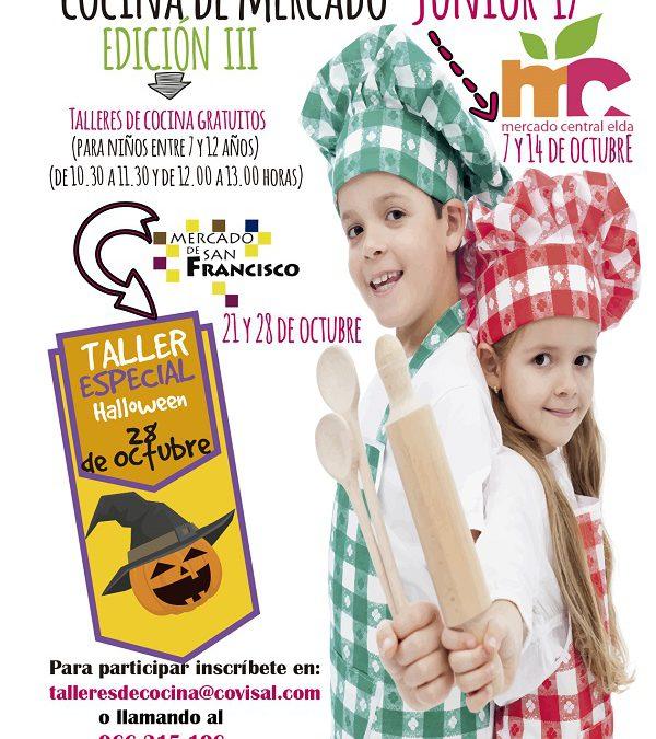 Vuelve el taller Cocina de Mercado Jr., un curso de cocina gratuito para los más pequeños