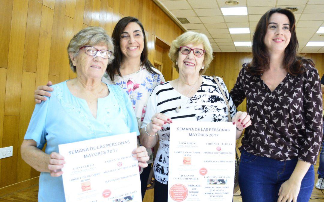 Actividades culturales y sociales para celebrar la el Día Internacional de las Personas de Edad