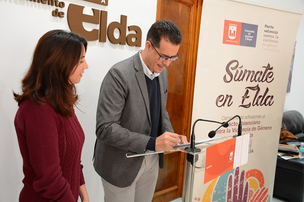 El Ayuntamiento de Elda se adhiere al Pacto Valenciano contra la Violencia de Género y Machista de la Generalitat y presenta acciones locales