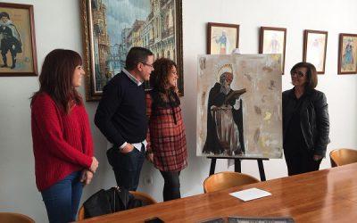 La eldense Lola González, autora del cuadro de la Mayordomía de San Antón
