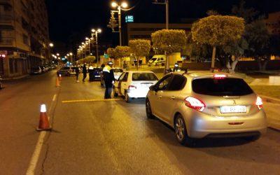 Una treintena de atestados, denuncias y actas en 10 días de campaña de la Policía Local contra el alcohol y drogas al volante