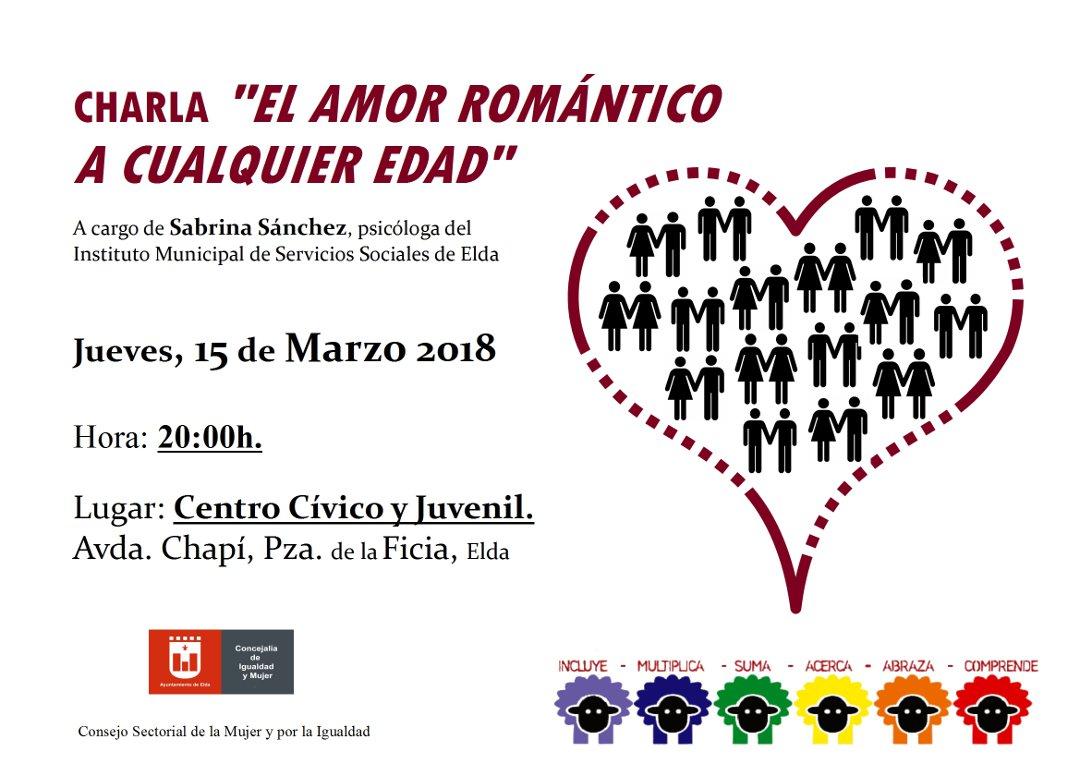 CARTEL CHARLA EL AMOR ROMANTICO A CUALQUIER EDAD