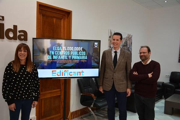 El Ayuntamiento cifra en 15 millones de euros las necesidades de los colegios públicos de Infantil y Primaria para el plan Edificant