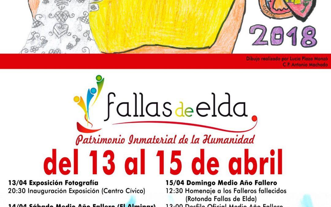 La niña Lucía Plaza Monzó, ganadora del concurso de carteles del Medio Año Fallero