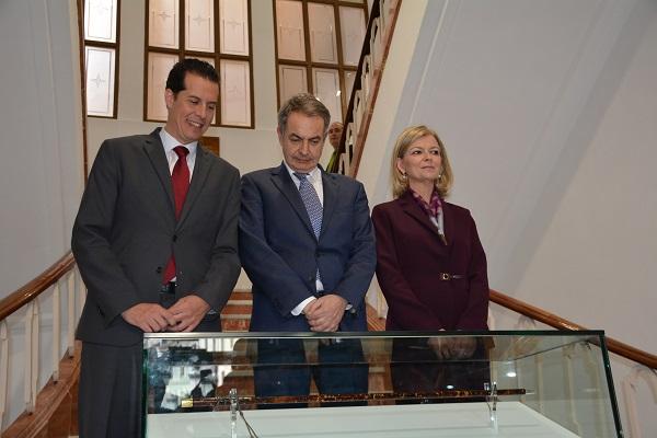 El expresidente Rodríguez Zapatero asiste mañana en Elda a la inauguración de la exposición permanente de la vara de Azaña