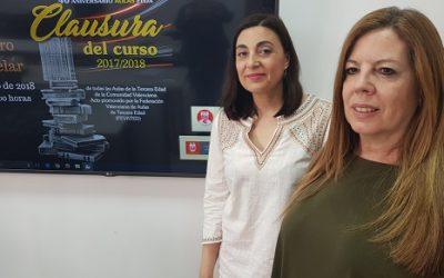 Las Aulas de la Tercera Edad de la Comunitat Valenciana clausuran el curso en Elda al cumplirse 40 años desde su creación