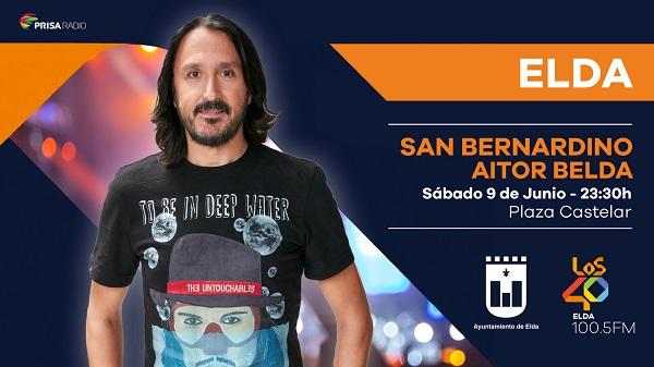 El famosos locutor Cristian San Bernardino actuará en el Cuartelillo Municipal de fiestas en un espectáculo de Los 40 Principales