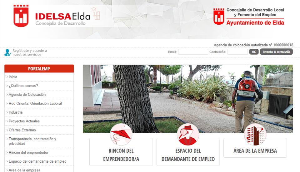 El Instituto Municipal de Desarrollo de Elda (Idelsa) estrena nueva página web