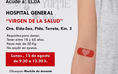 Elda suma más de 1.300 donantes de sangre en el primer semestre del año