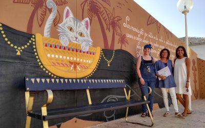 El Ayuntamiento inaugura un mural artístico sobre la protección animal