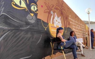 El mural de defensa animal creado por la concejalía de Urbanismo opta a un premio provincial