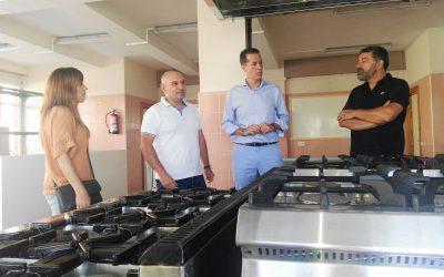 El alcalde visita las nuevas instalaciones del ciclo de Cocina y Restauración en el IES Valle de Elda