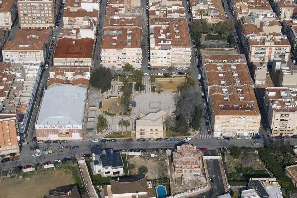Imagen del barrio Nueva Fraternidad con la calle Maximiliano García Soriano.