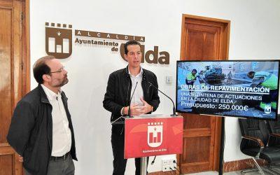 El Ayuntamiento destina 250.000 euros para el reasfaltado de 30 calles de la ciudad