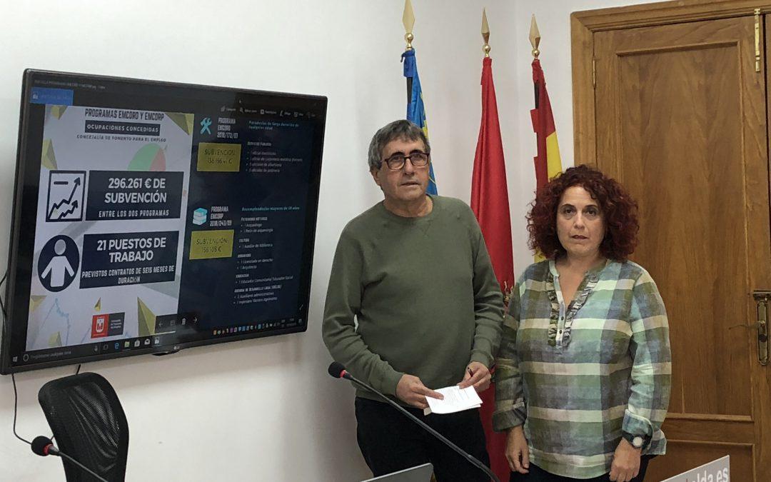 IDELSA pone en marcha los programas EMCORD y EMCORP del SERVEF con los que se contratarán  21 personas