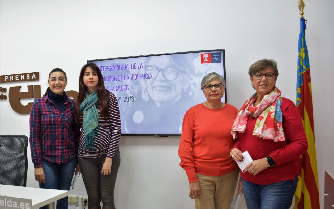 El Ayuntamiento de Elda presenta las actividades para el día Internacional de la Eliminación de la Violencia contra la Mujer