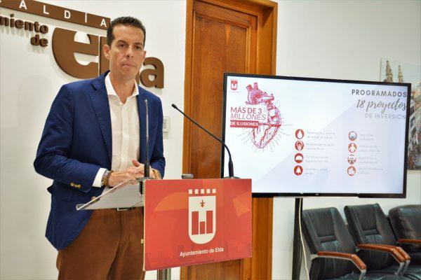 El alcalde, Rubén Alfaro, ha anunciado las 18 actuaciones.