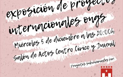 El Ayuntamiento de Elda presenta la exposición de Proyectos Internacionales de ONGs