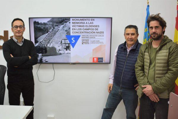 Momento de la presentación del monumento.