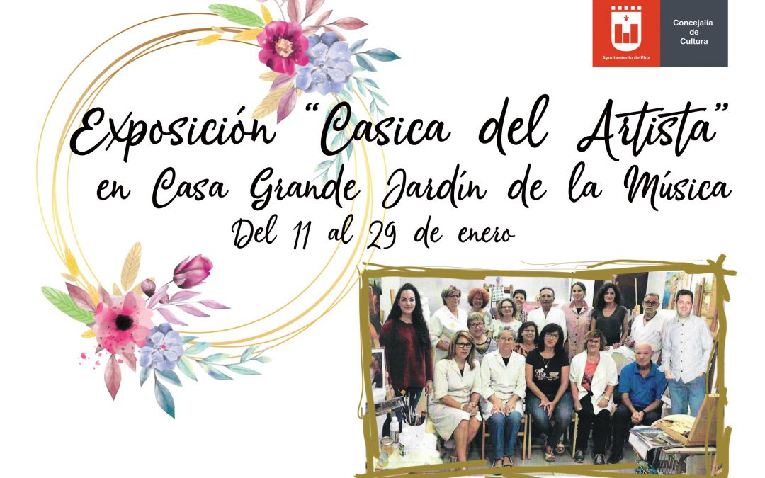 La Casica del Artista presenta su nueva exposición de pintura en la Casa Grande del Jardín de la Música