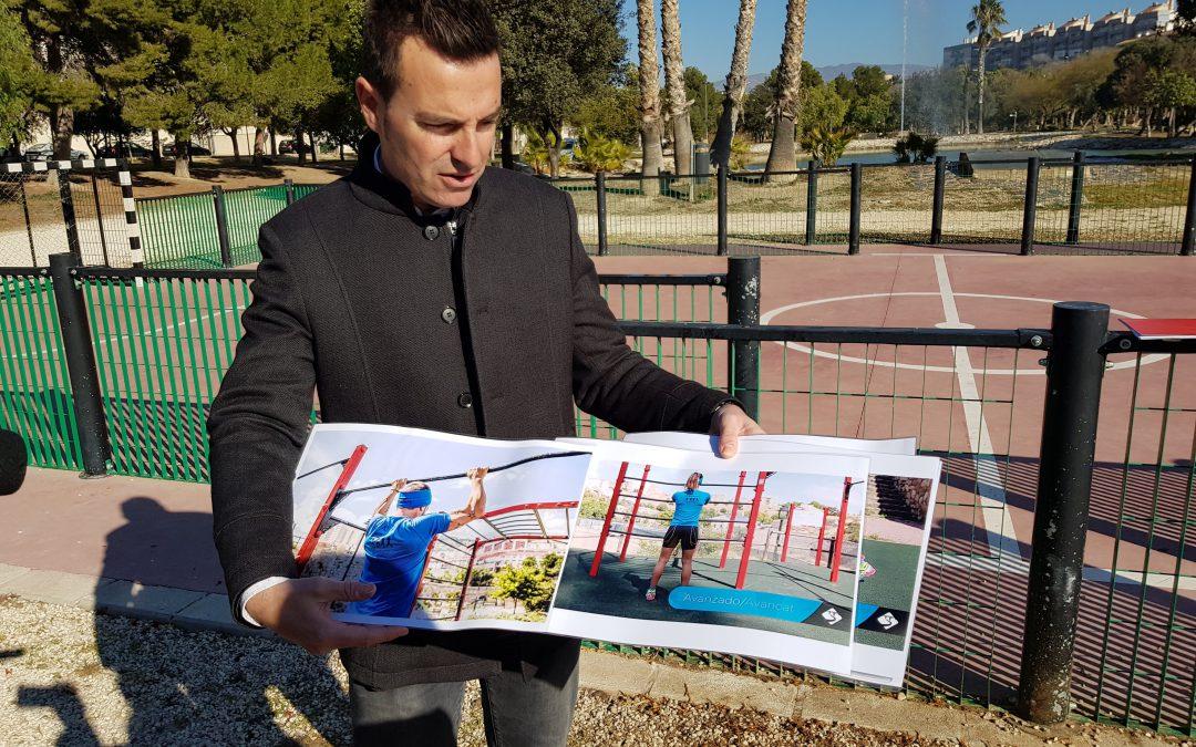 Elda contará con un circuito de ejercicios lúdico-deportivos en los jardines del Vinalopó