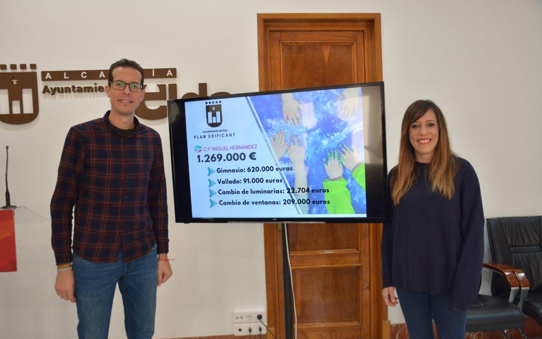 La conselleria de Educación autoriza al Ayuntamiento de Elda las reformas del Colegio Miguel Hernández incluidas en el Plan Edificant