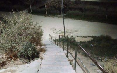 El Ayuntamiento de Elda ilumina y repara los accesos a las instalaciones de la Sismat desde el barrio de Huerta Nueva