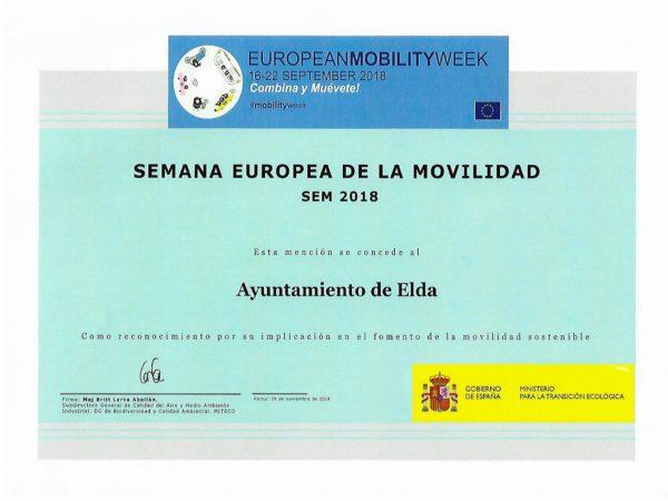 Mencion Semana Europea de la Movilidad