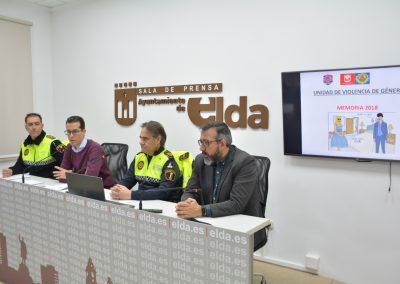 La Policía Local de Elda presenta la memoria de las actuaciones realizadas por la Unidad de Violencia de Género con un balance positivo