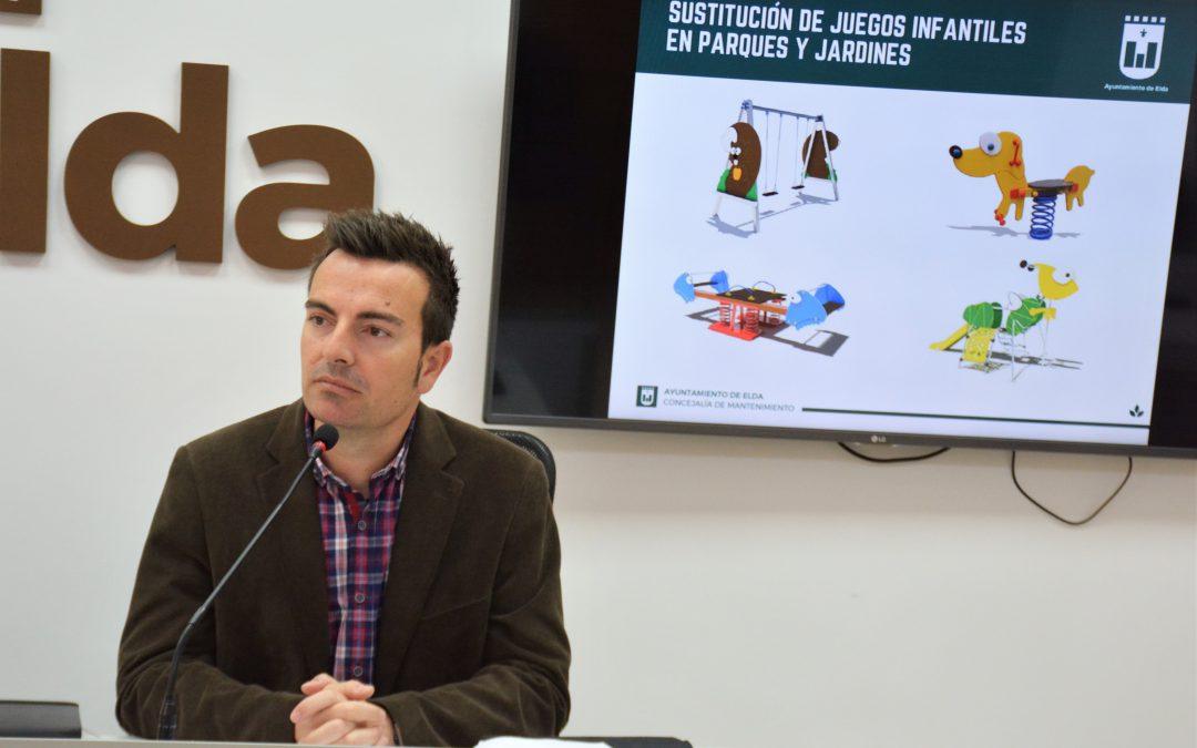 El Ayuntamiento de Elda destina 200.000 euros para la renovación de los juegos infantiles de nueve parques de la ciudad