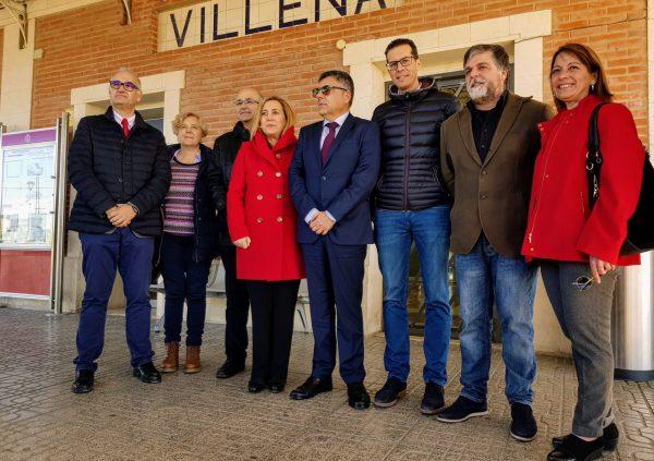 Imagen de la estación de cercanías de Villena.