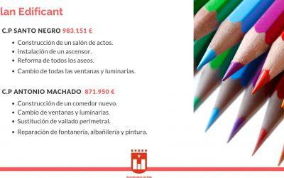 El Plan Edificant se ha aprobado para los colegios Santo Negro y Antonio Machado