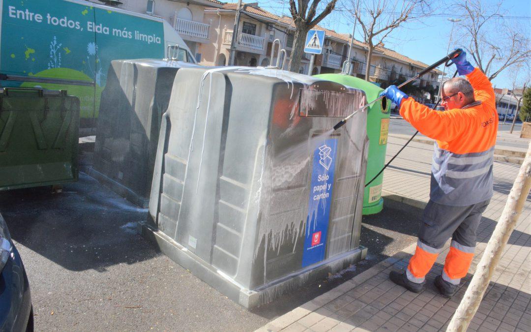 El Ayuntamiento de Elda retoma el plan especial de refuerzo de limpieza en los barrios