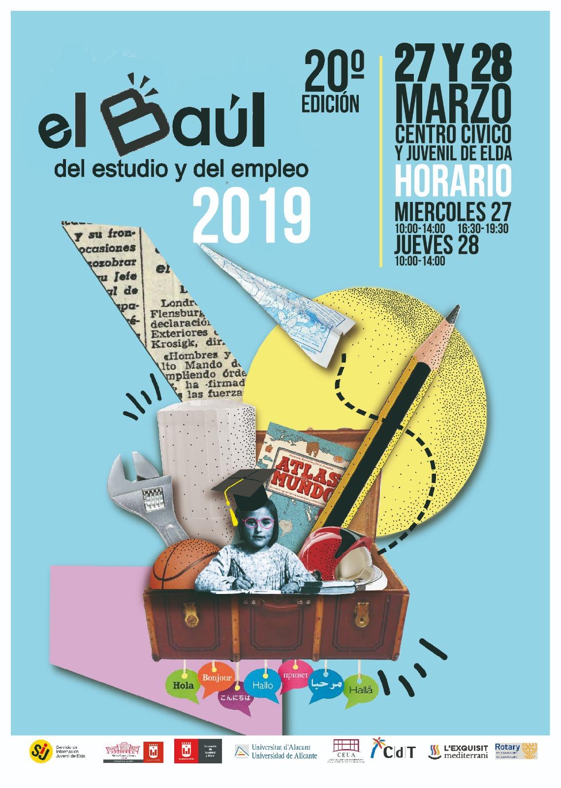 El Baúl del Estudiante de Elda celebra su 20 aniversario el próximo 27 y 28 de marzo