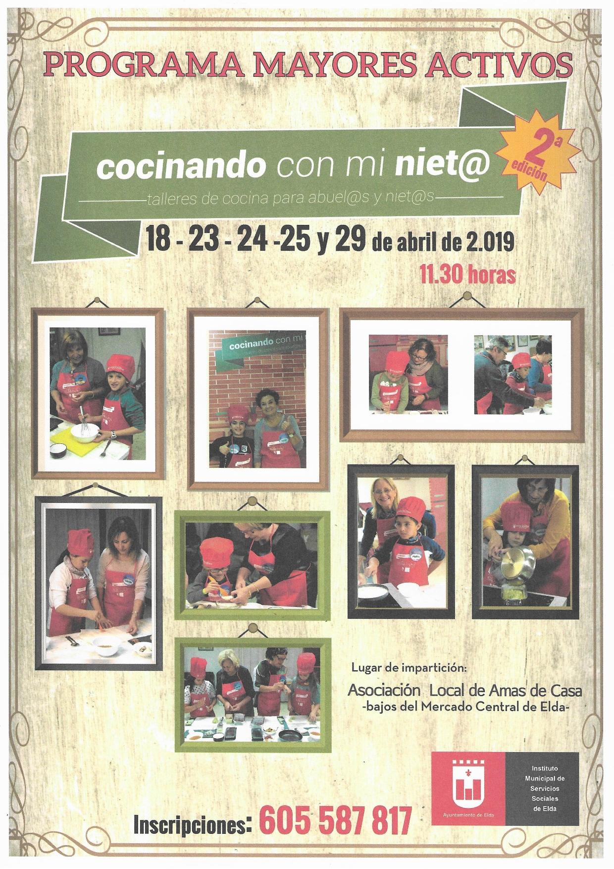 La II edición de 'Cocinando con mi nieto' regresa a Elda durante el mes de abril