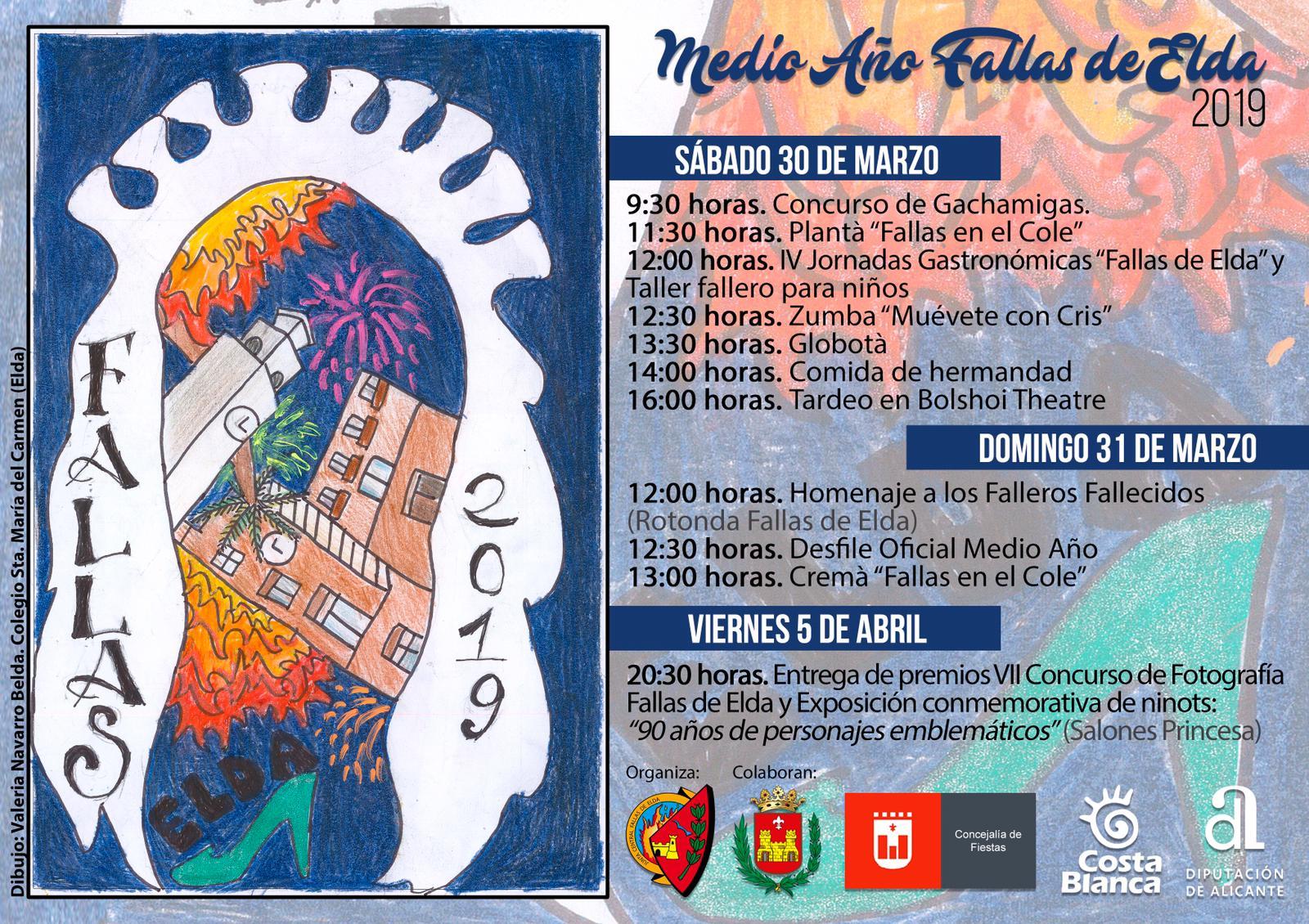 La niña Valeria Navarro, ganadora del concurso de carteles del Medio Año Fallero