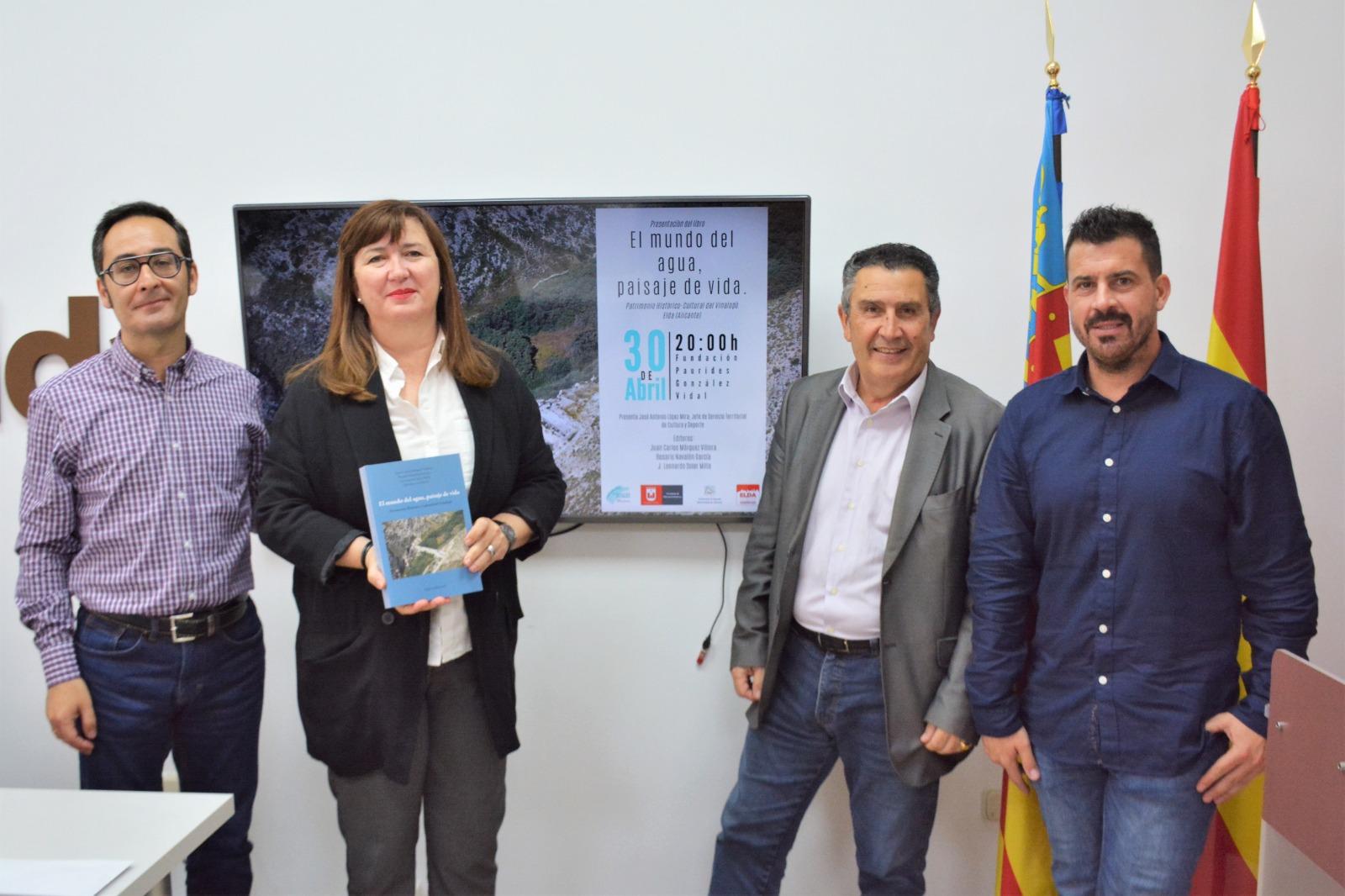 El Ayuntamiento recoge en un libro las conferencias del I Congreso de Patrimonio Histórico-Cultural del Vinalopó sobre el agua