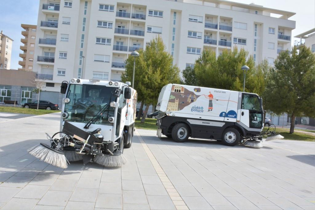 Entran en funcionamiento los nuevos vehículos de limpieza viaria de Elda