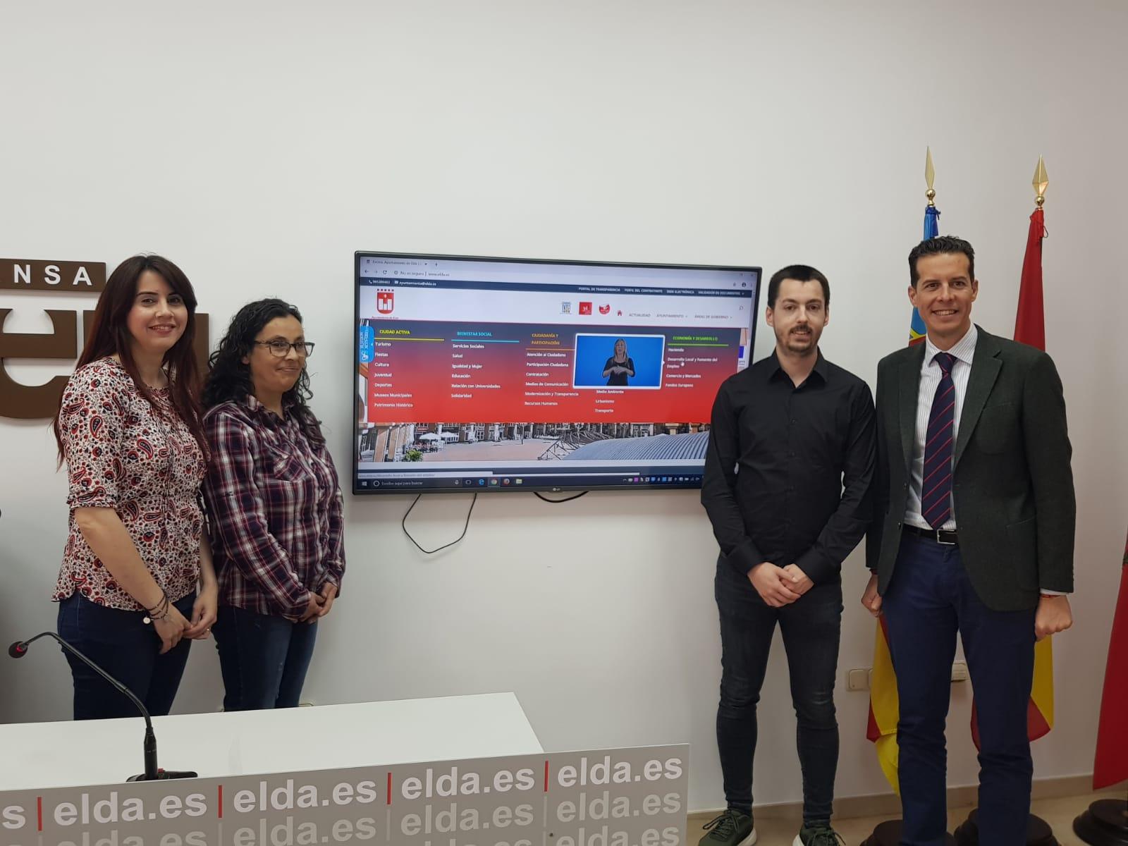 Elda.es se convierte en la primera web municipal de la Comunidad Valenciana en adaptarse a la lengua de signos