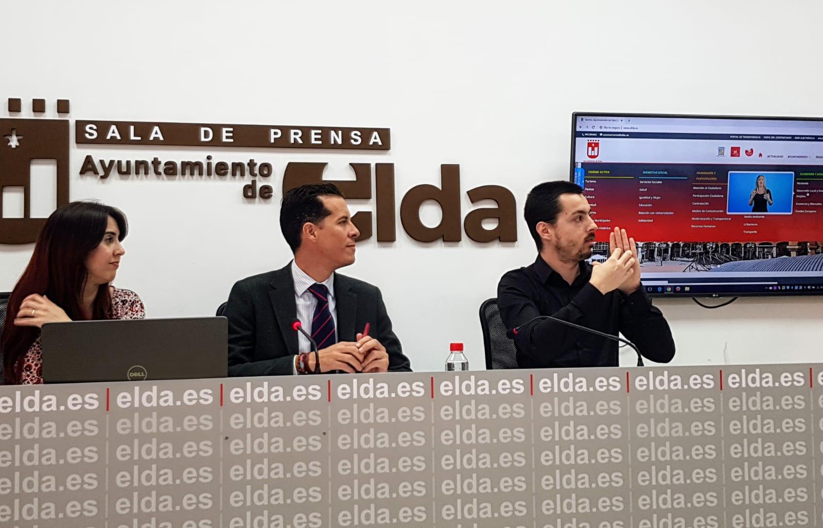 Elda.es se convierte en la primera web municipal de la Comunidad Valenciana en adaptarse a la lengua de signos.