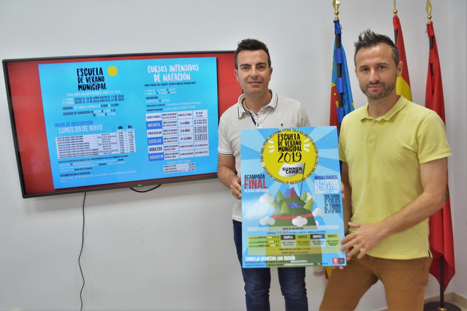 Deportes presenta la Escuela Municipal de Verano 2019 y los cursos intensivos de natación