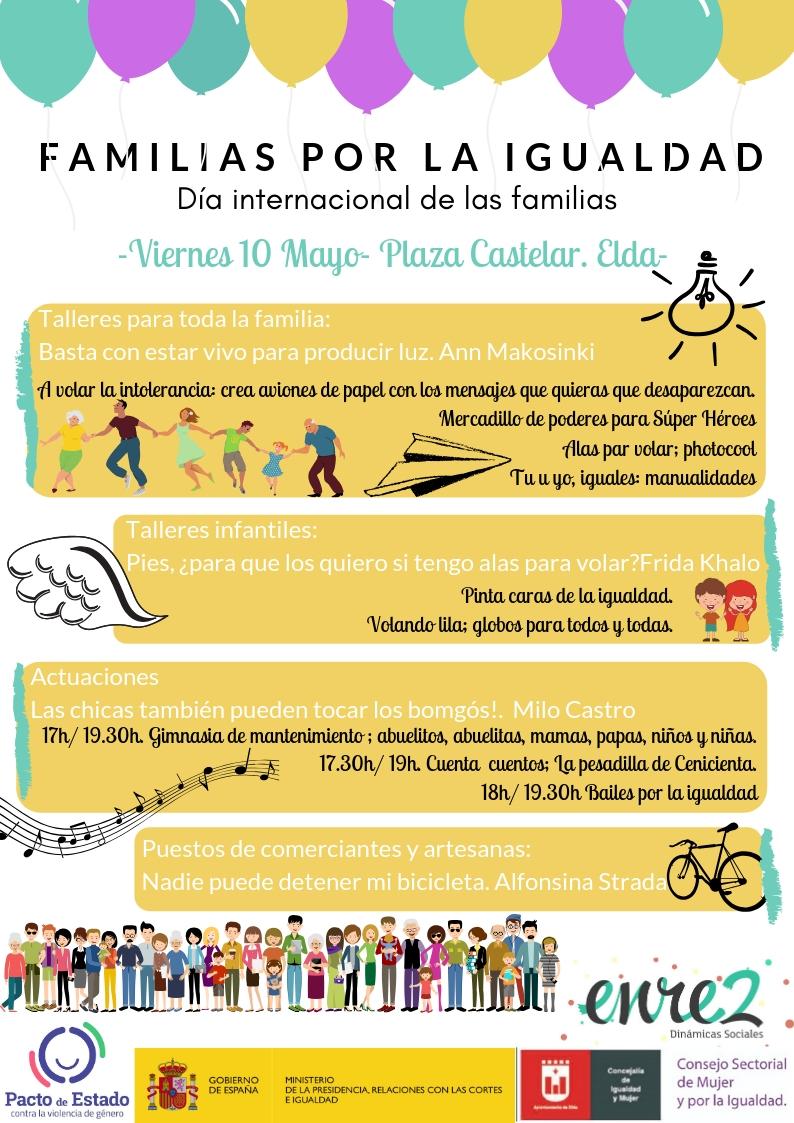 La Plaza Castelar de Elda acoge una jornada destinada a la educación en valores igualitarios y contra la violencia de género