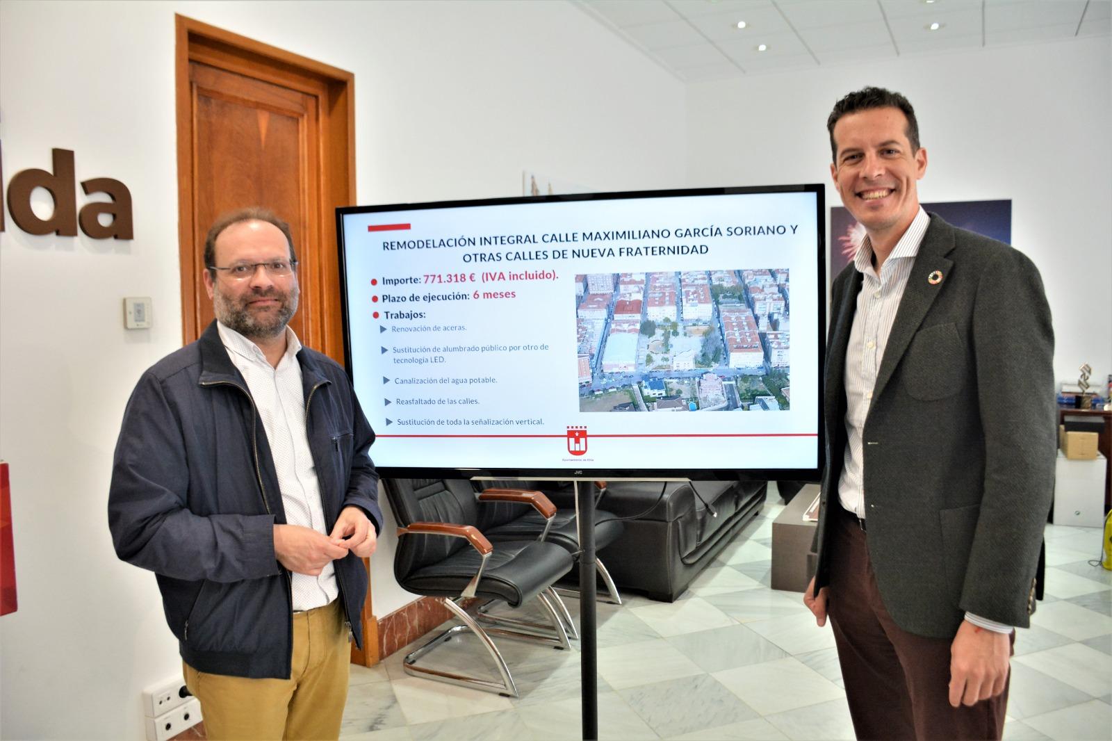 El Ayuntamiento de Elda adjudica las obras de  remodelación de la calle Maximiliano García Soriano y adyacentes