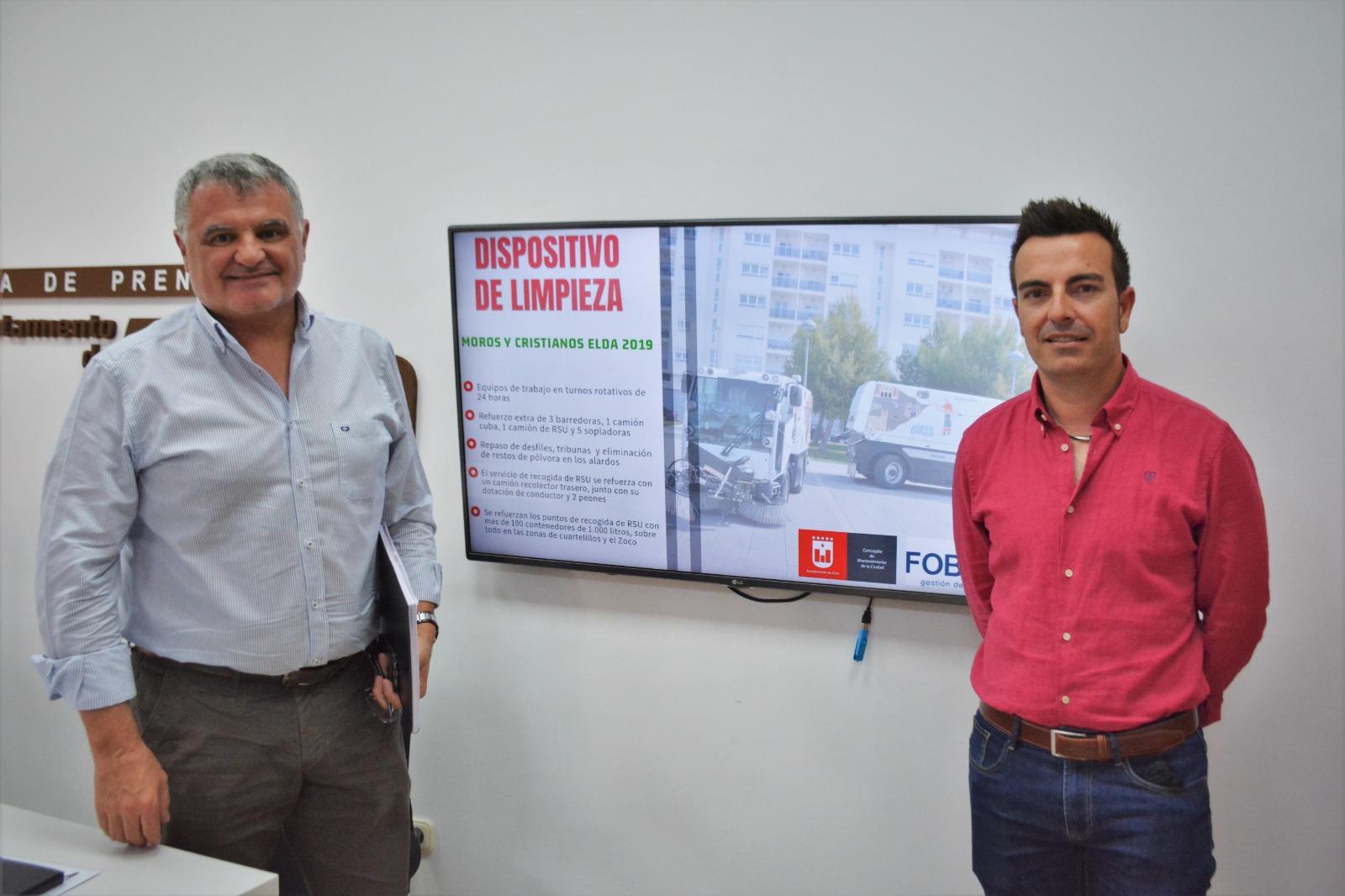 El Ayuntamiento de Elda habilita un dispositivo especial de limpieza para las fiestas de Moros y Cristianos