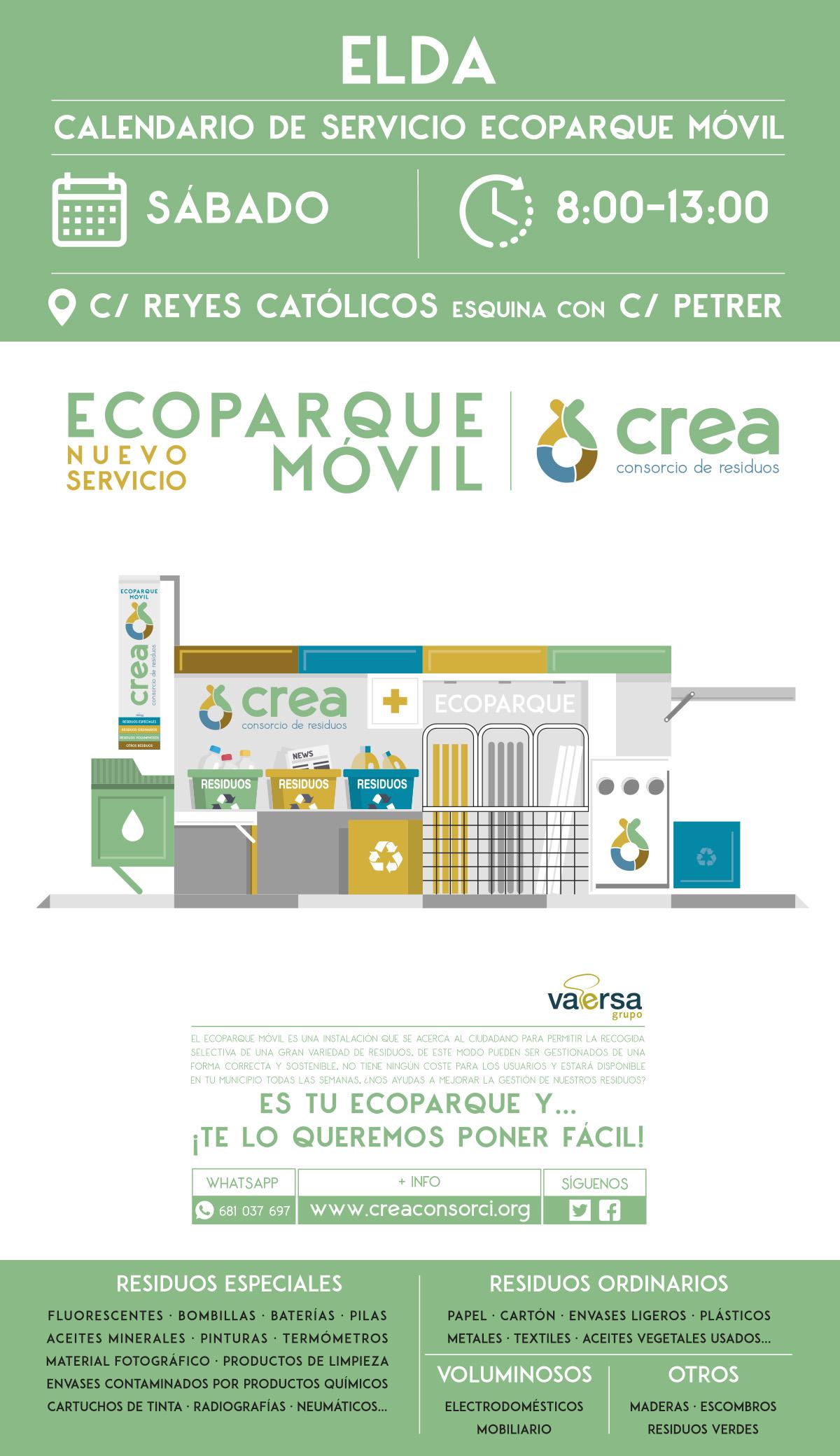 El nuevo servicio 'Ecoparque móvil' estará disponible todos los sábados a partir del día 22 de junio