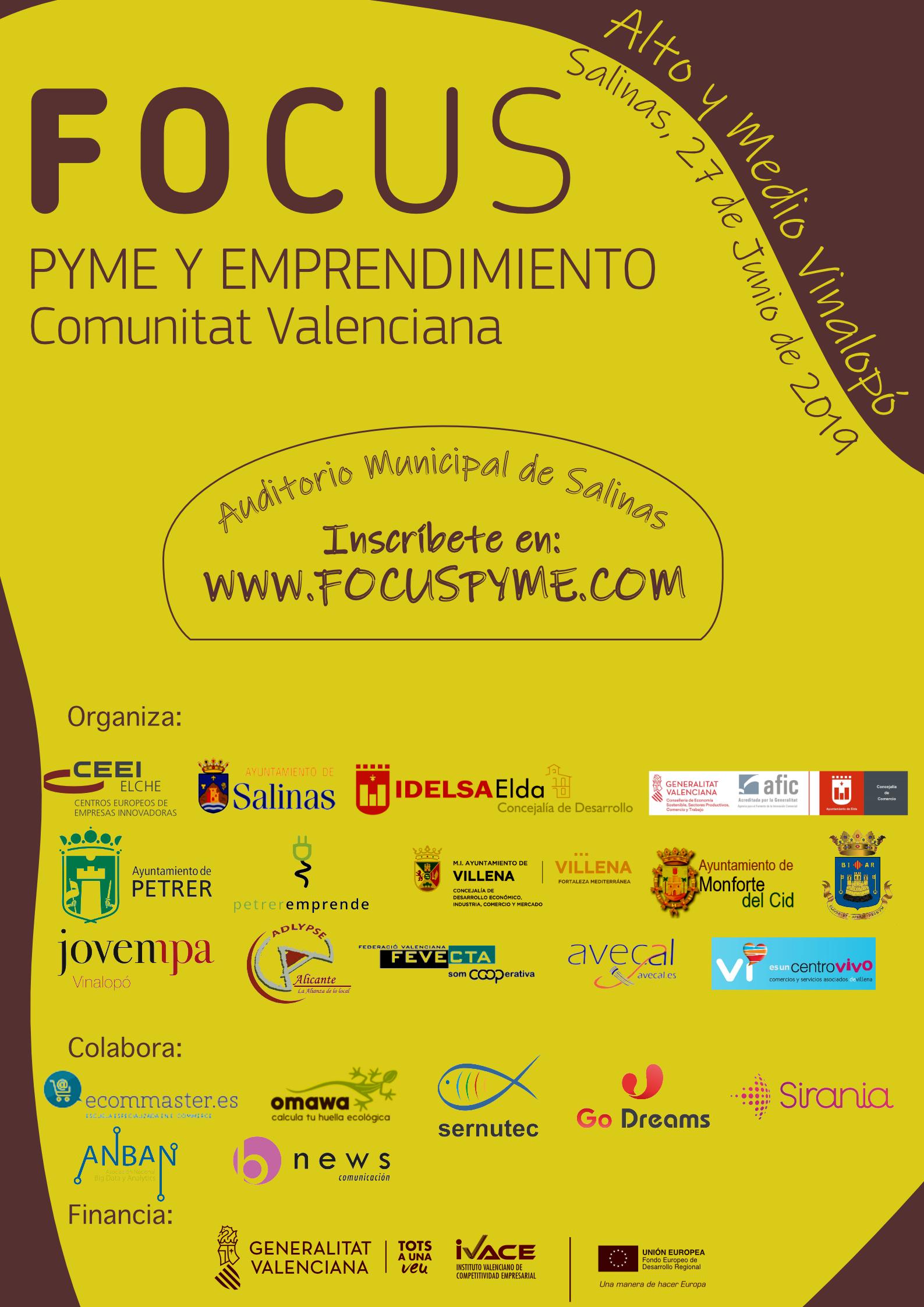 El Ayuntamiento de Elda presentará el 'Mapa del Comercio de Proximidad' en el evento Focus Pyme Alto y Medio Vinalopó de Salinas